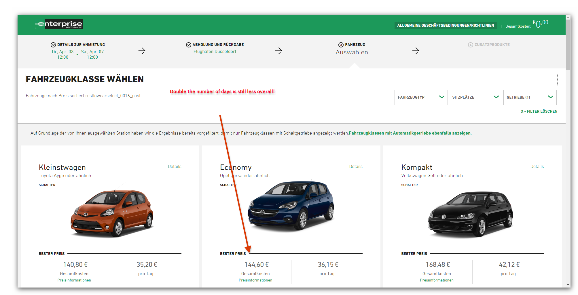 Enterprise Car Hire, is this what you call dynamic pricing